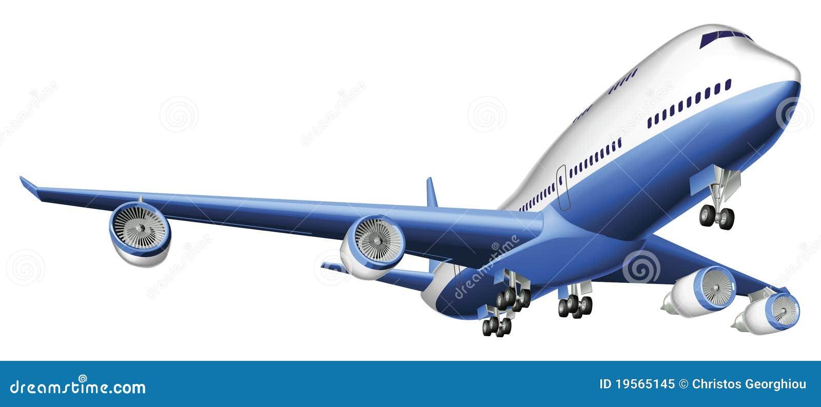 пассажирский самолет иллюстрации большой