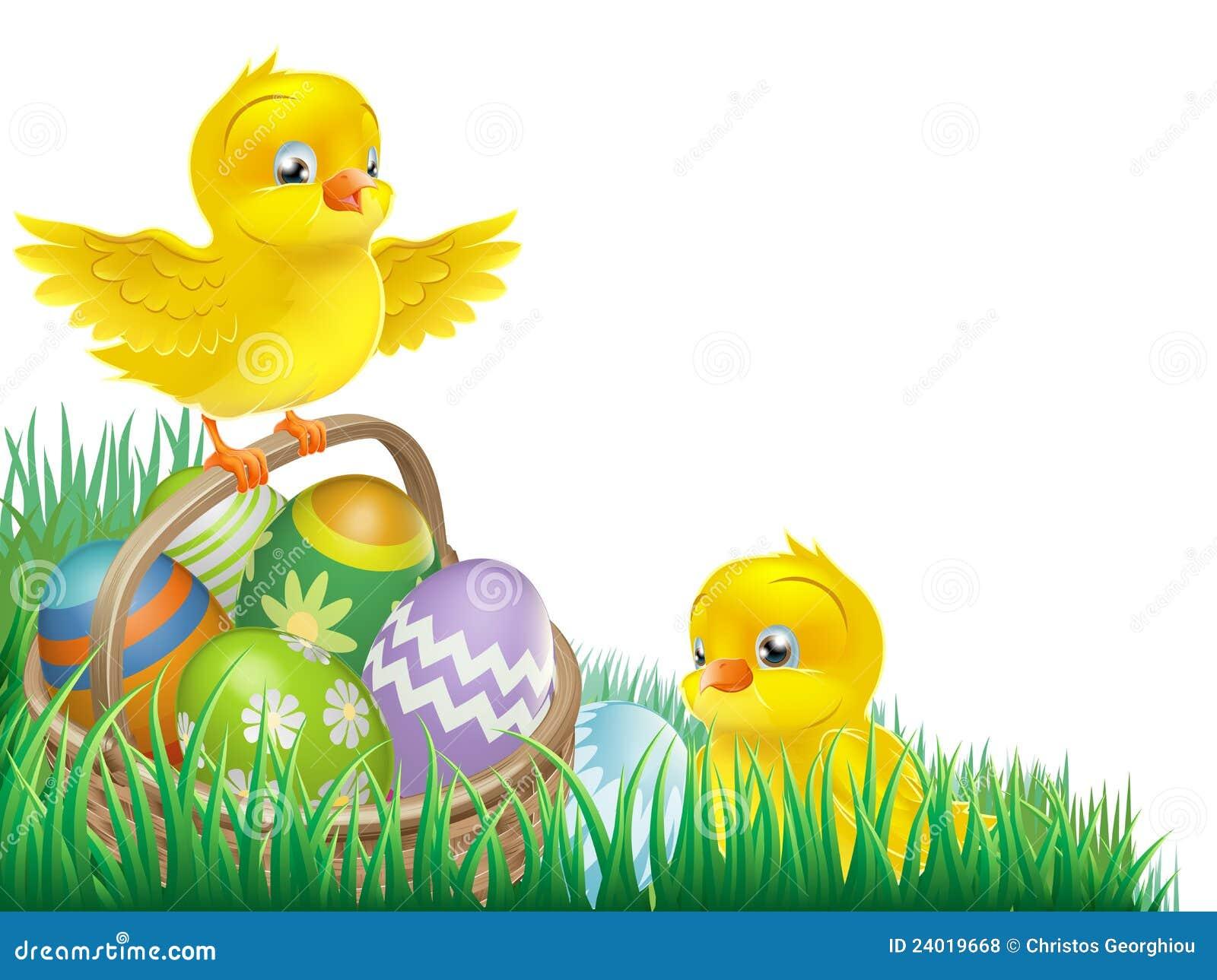 пасхальное яйцо цыпленоков корзины