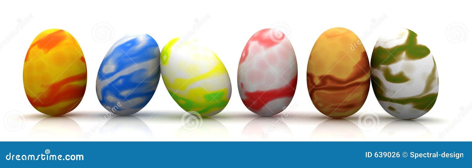 Download пасхальные яйца иллюстрация штока. иллюстрации насчитывающей цветы - 639026