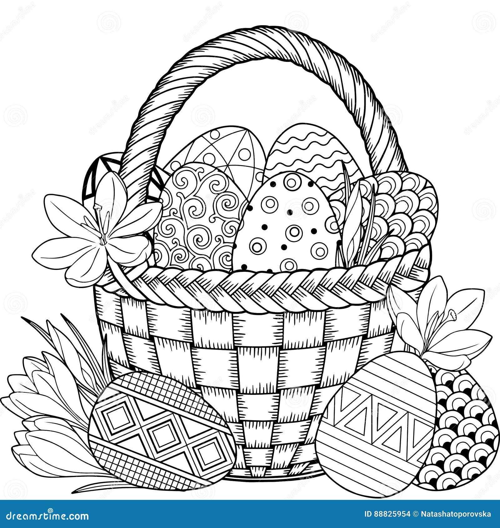 пасха счастливая черно белые пасхальные яйца Doodle в