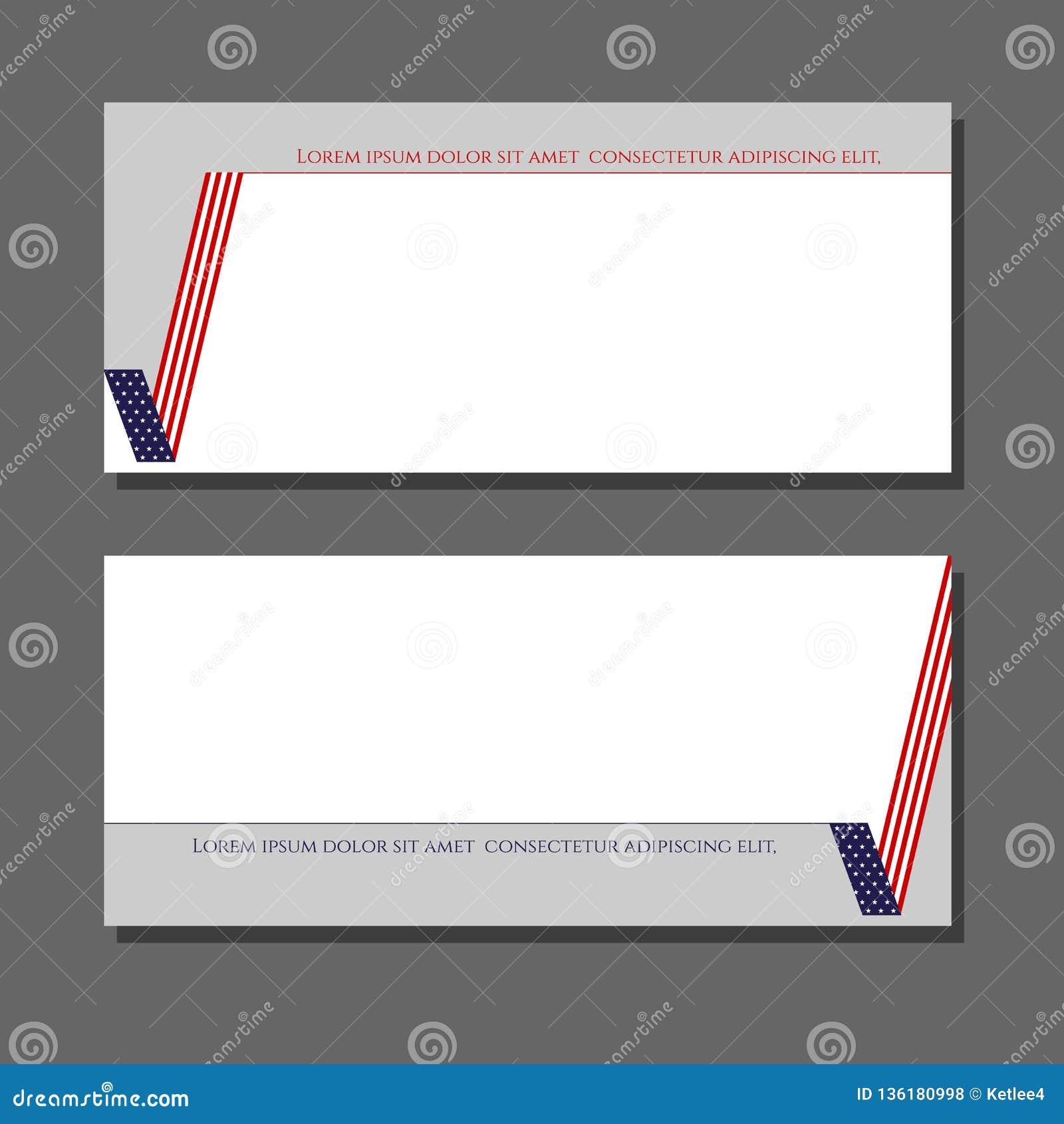 Патриотическая карта контрольной пометки проверки сведений с элементом дизайна американского флага для брошюр знамен карт планов