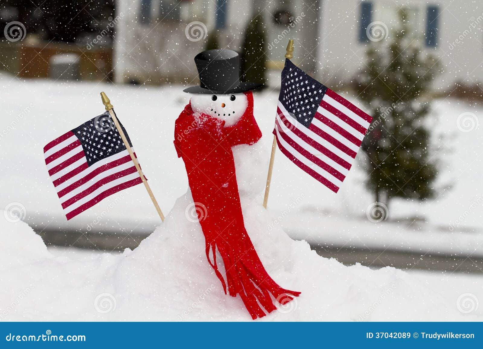 Патриотический снеговик