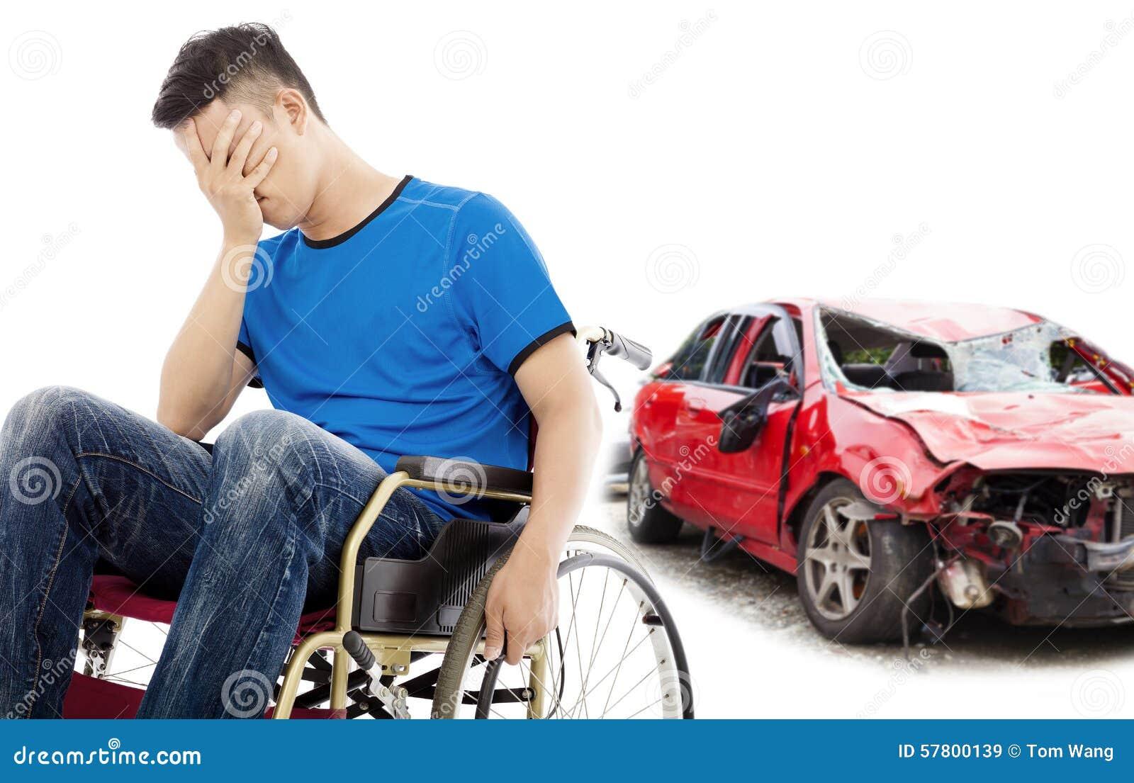 Пациент стресса с концепцией автомобильной катастрофы