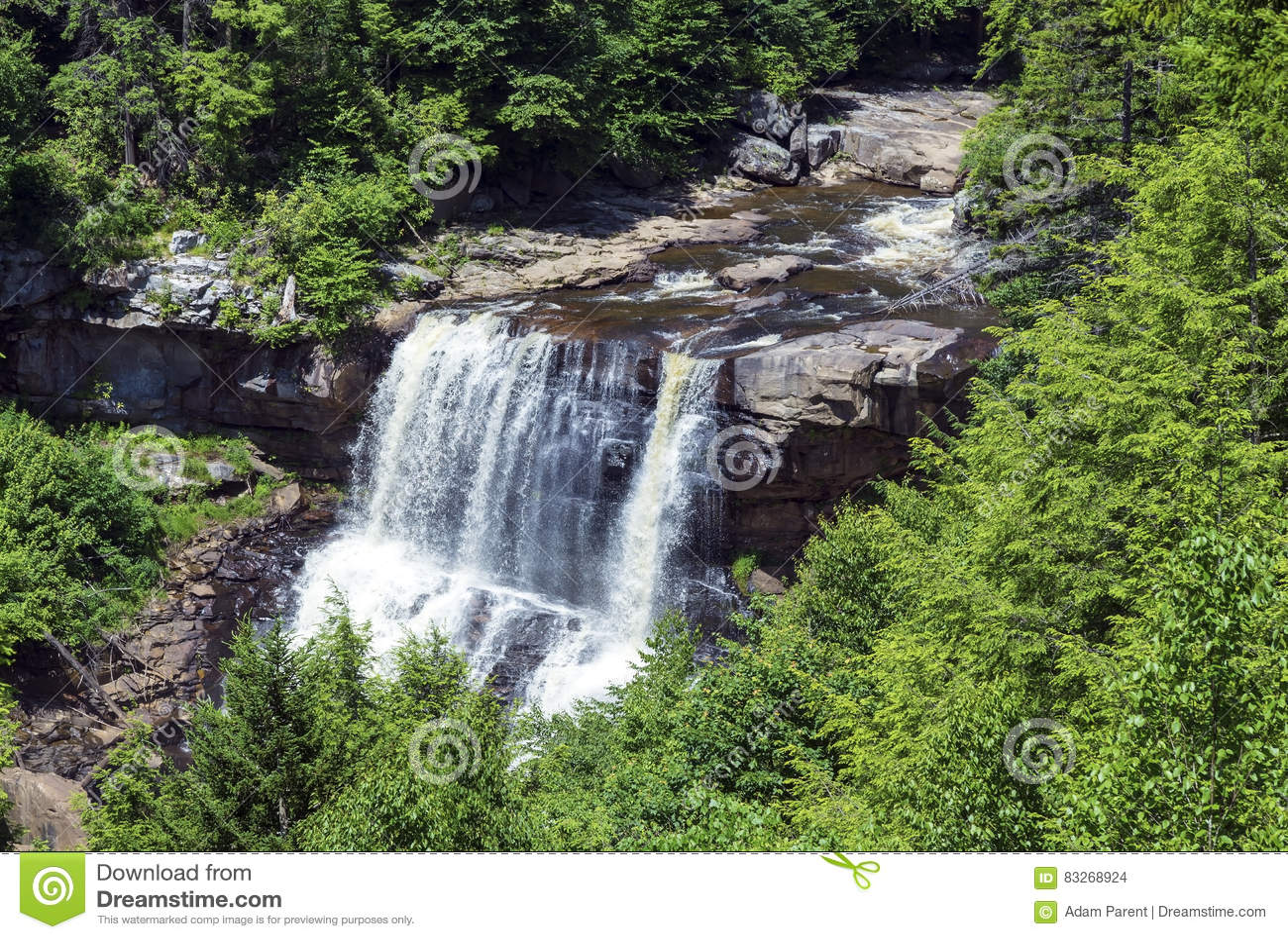 Падения Blackwater на Blackwater понижаются парк штата в Западной Вирджинии