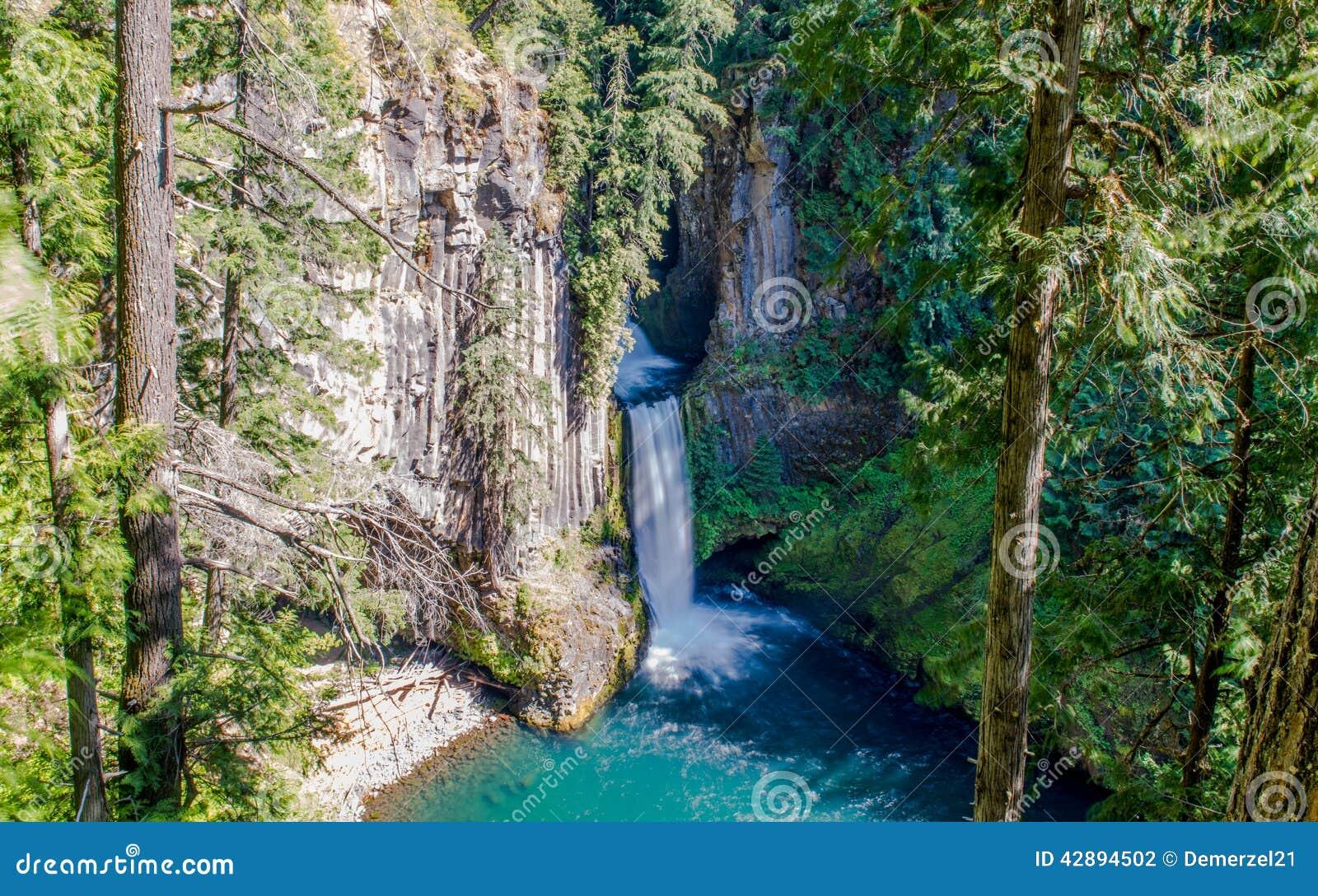 Падения Toketee, национальный лес Umpqua, Орегон
