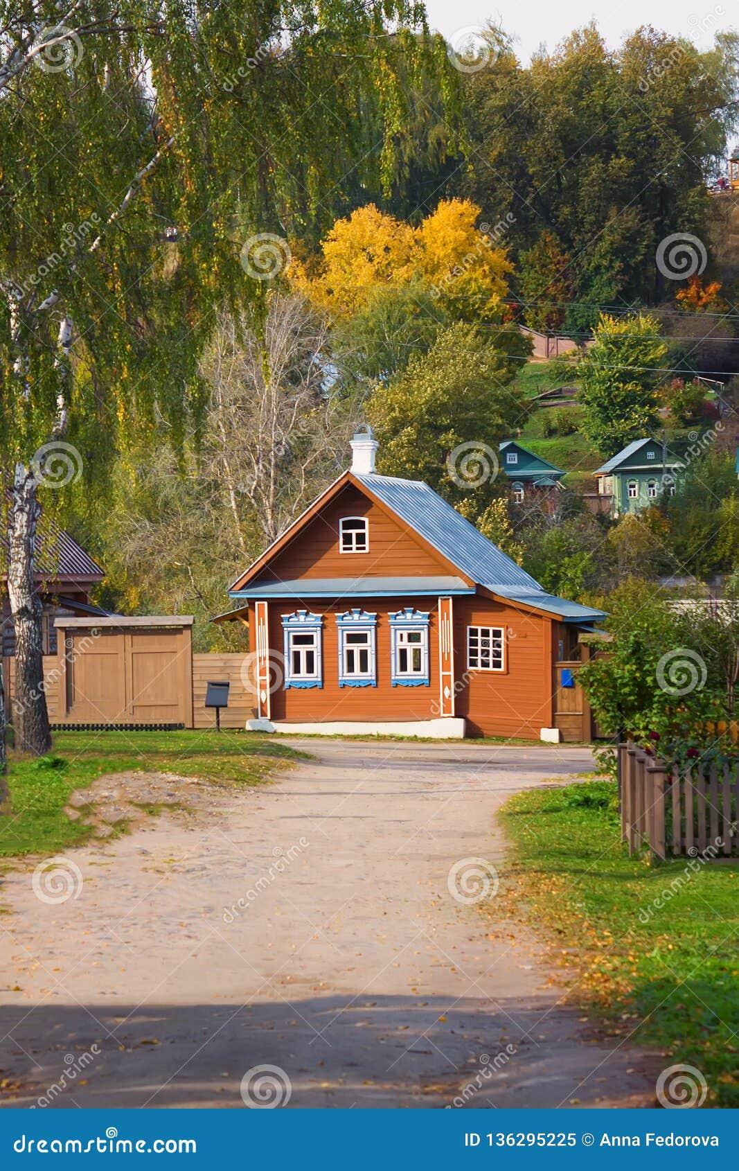 Пейзаж городка Plyos в области Иванова в России