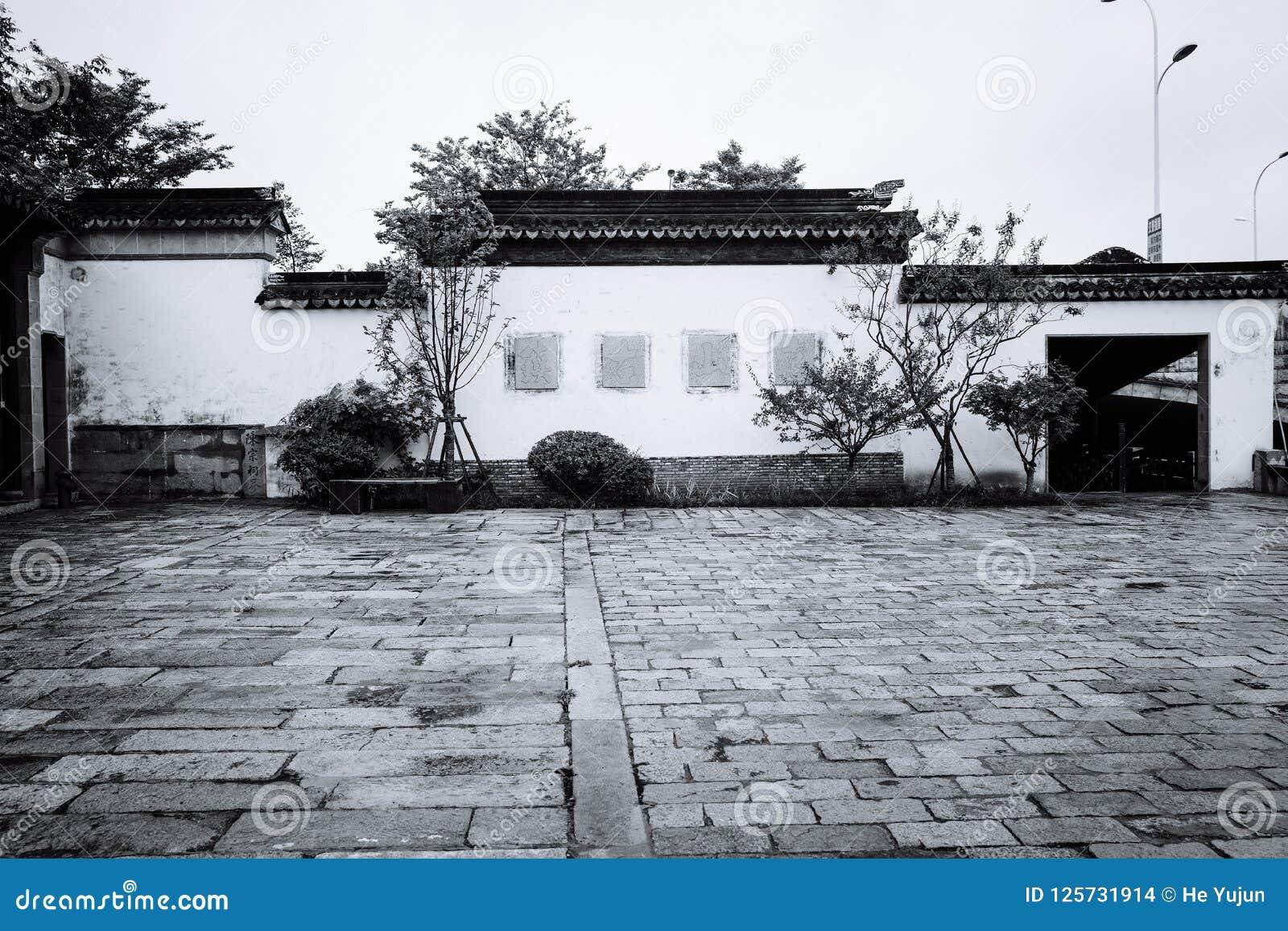 Пейзаж древнего города Wuxi Huishan
