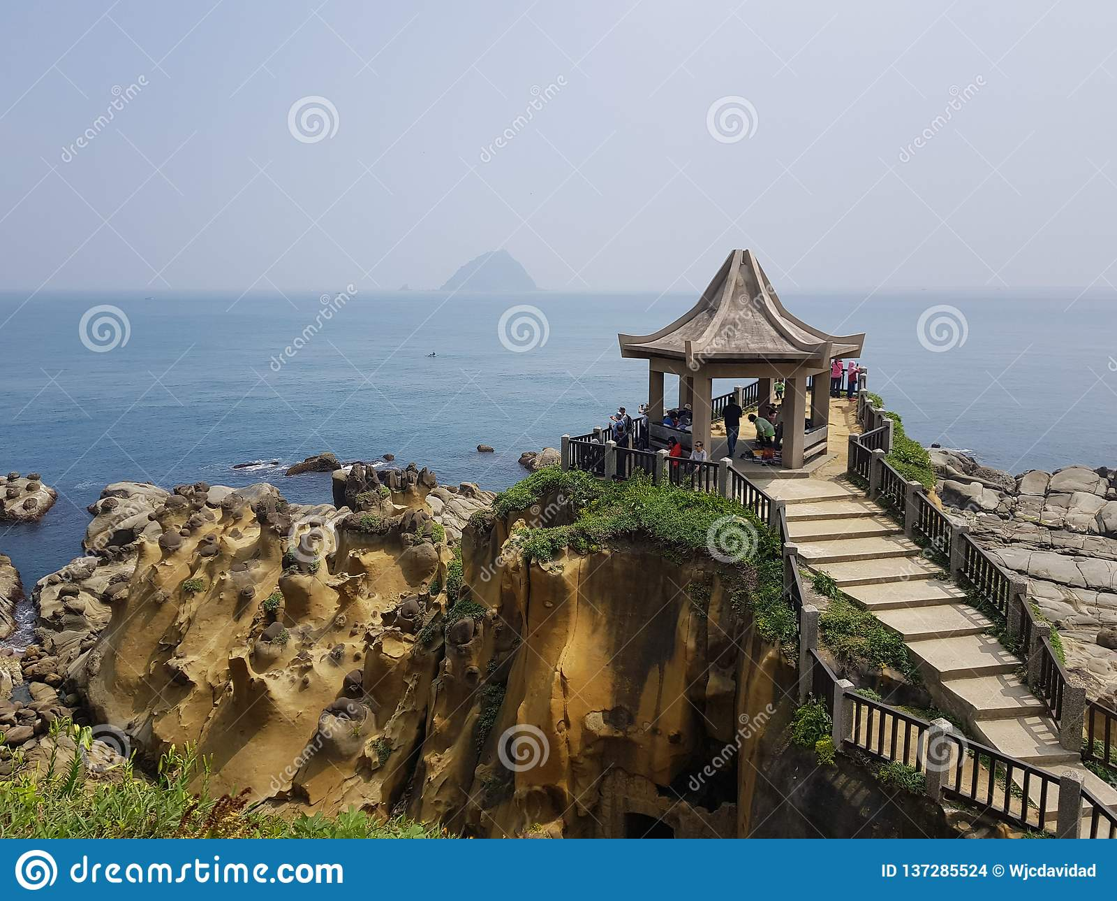 Пейзаж северного побережья Тайваня