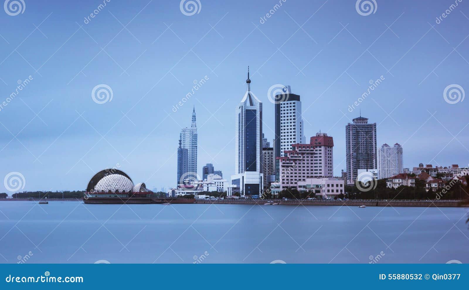 Пейзаж Qingdao в Китае