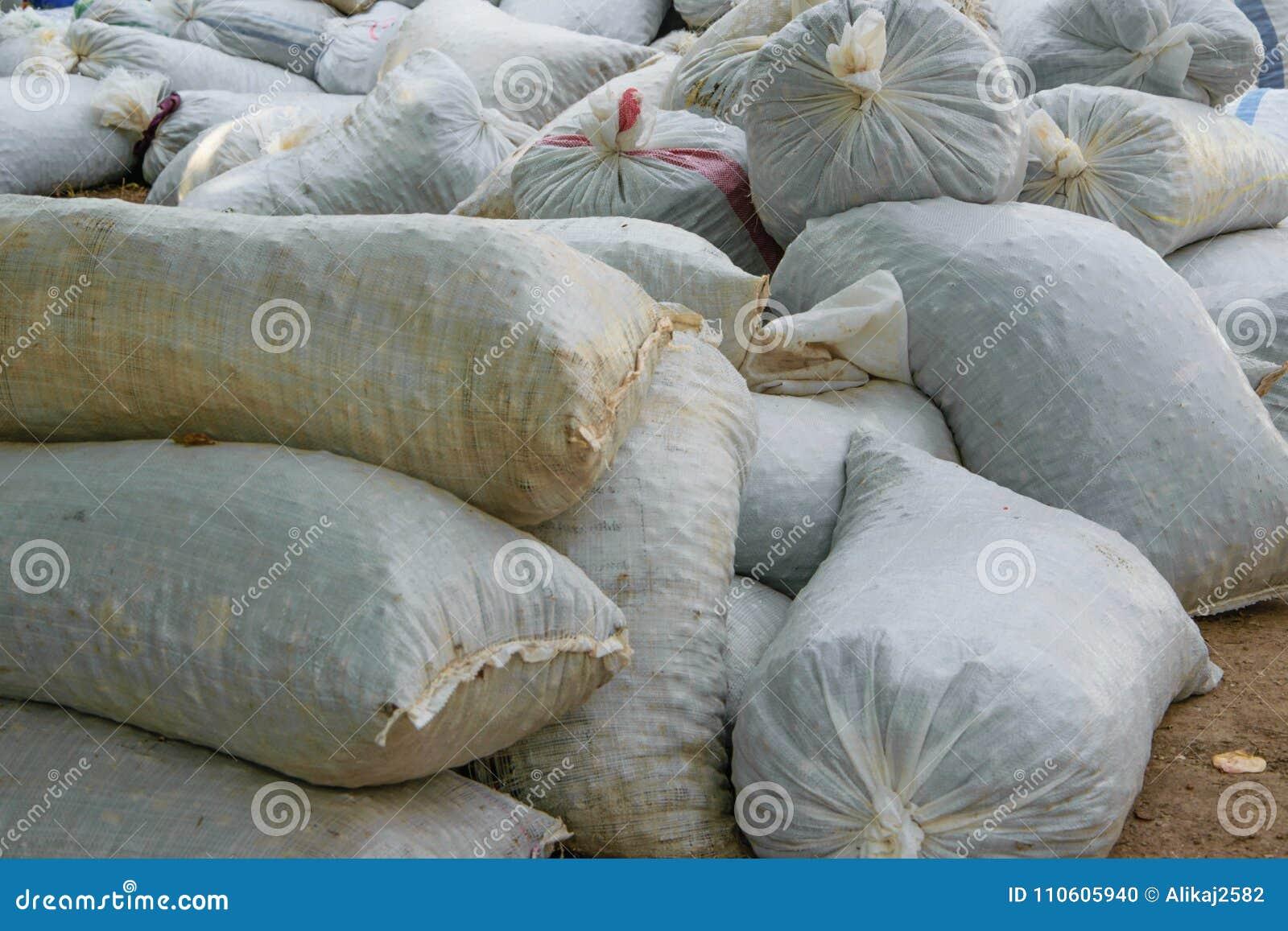 Пенька sacks вполне продуктов сбора аккумулированных на том основании