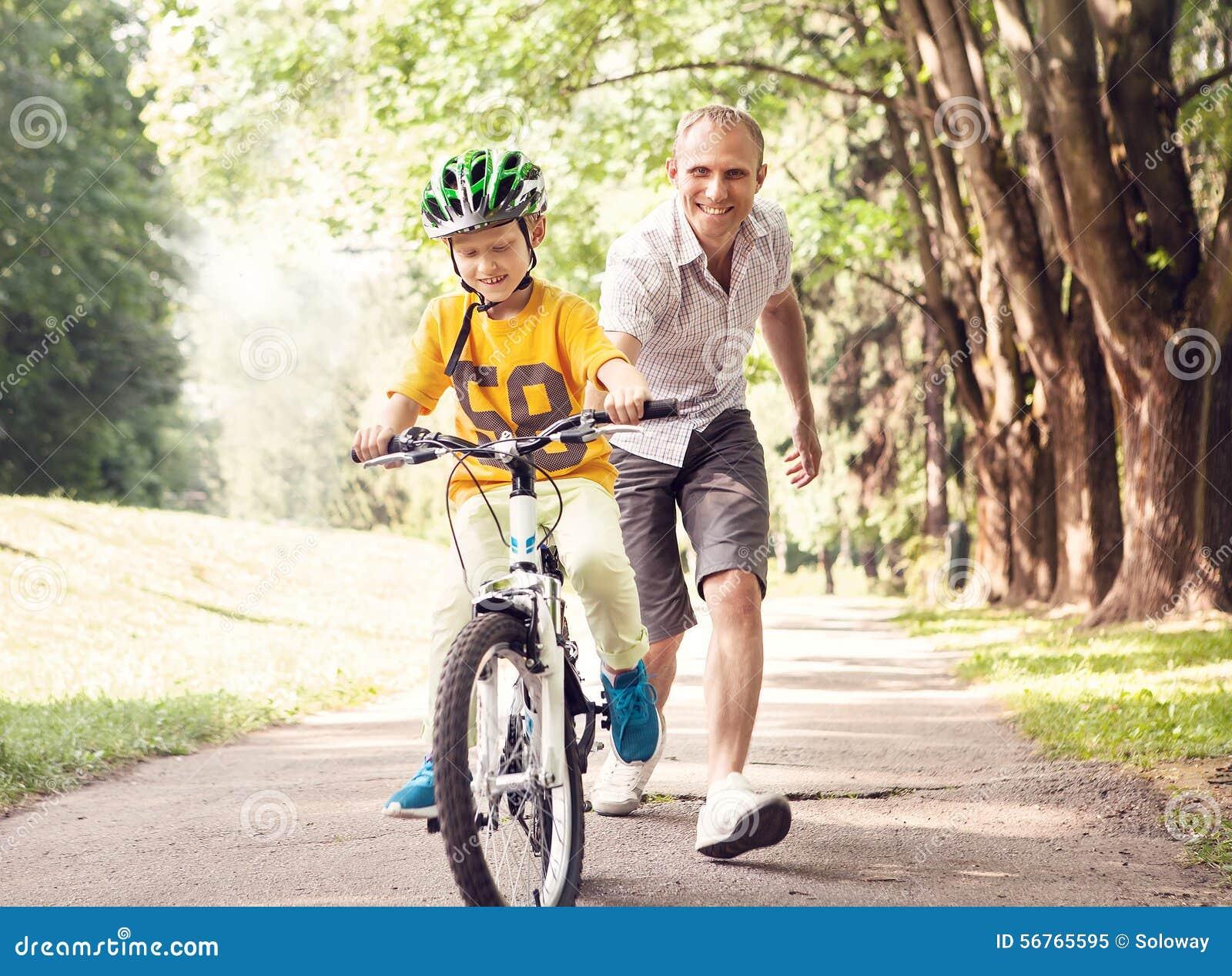 Первое катание велосипеда уроков