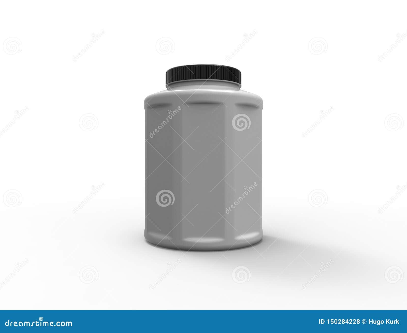 перевод 3d пластикового опарника изолированного на белой предпосылке