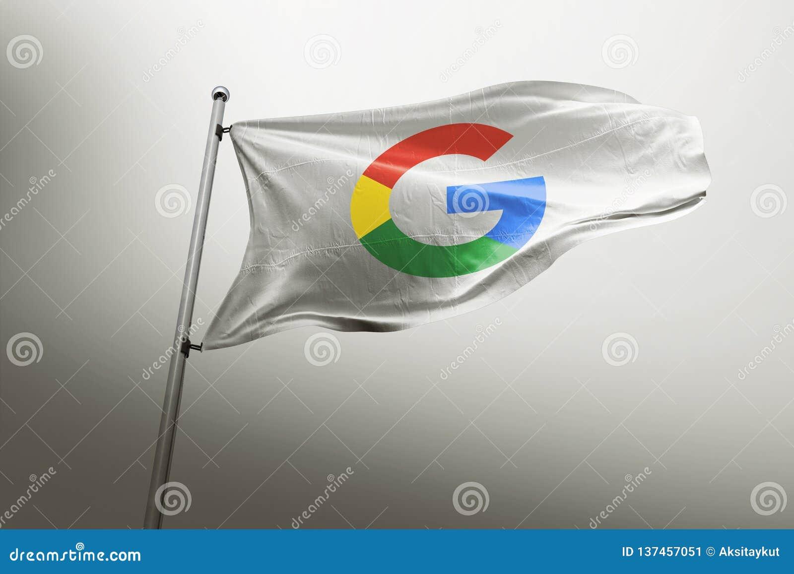 Передовица флага Google photorealistic