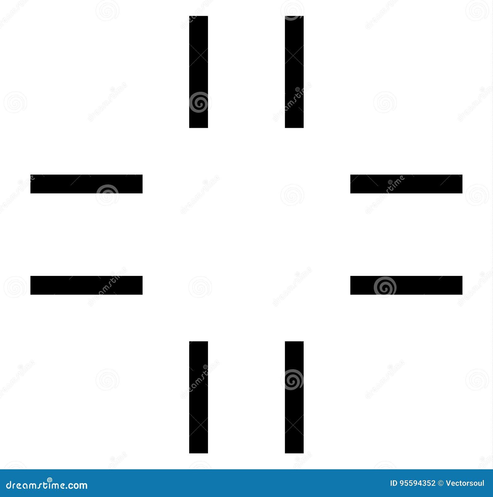 Перекрестие, символ метки цели Жулик выровняйте, точности или точности