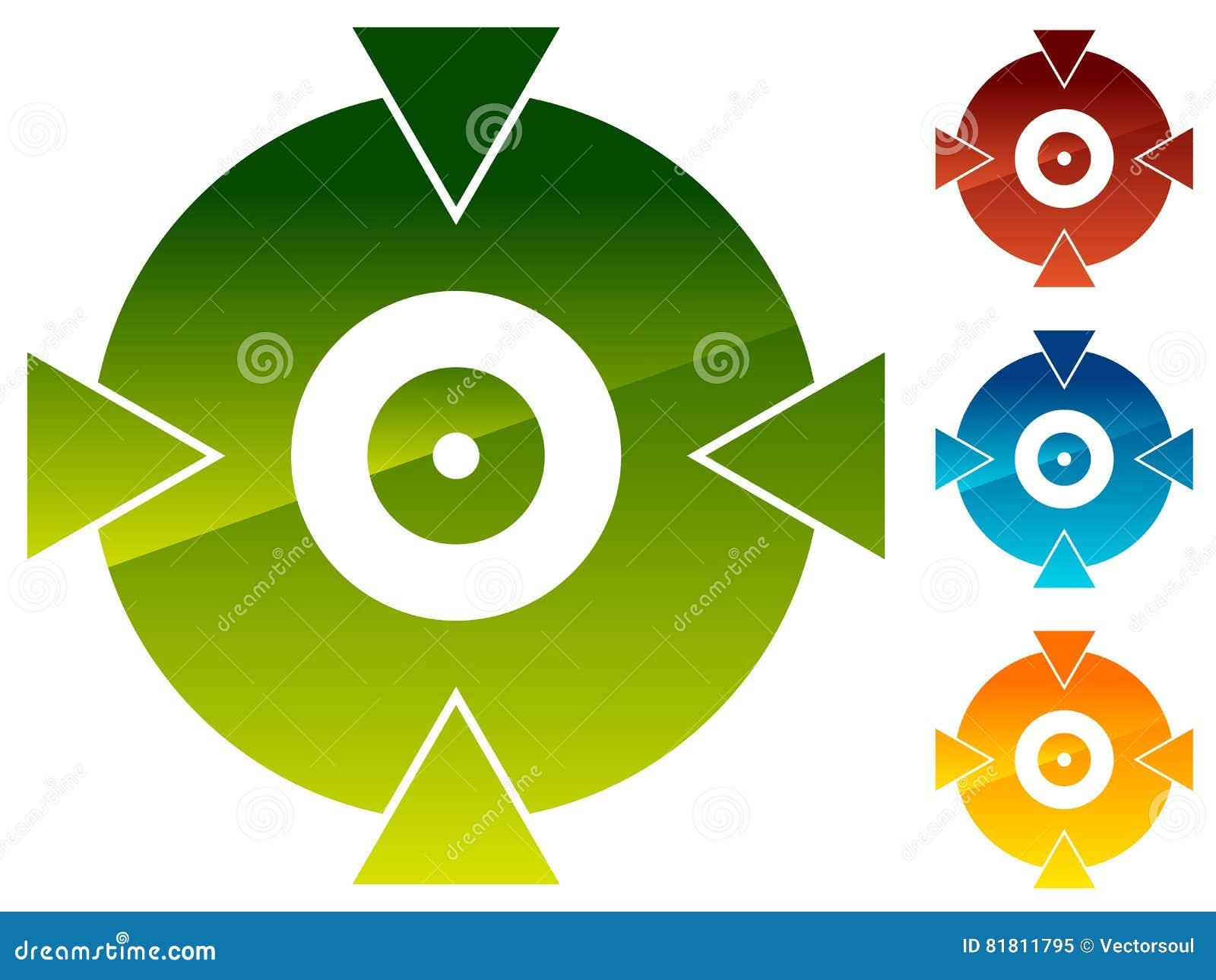 Перекрестие, форма метки цели для прицельного, яблочко и alignmen