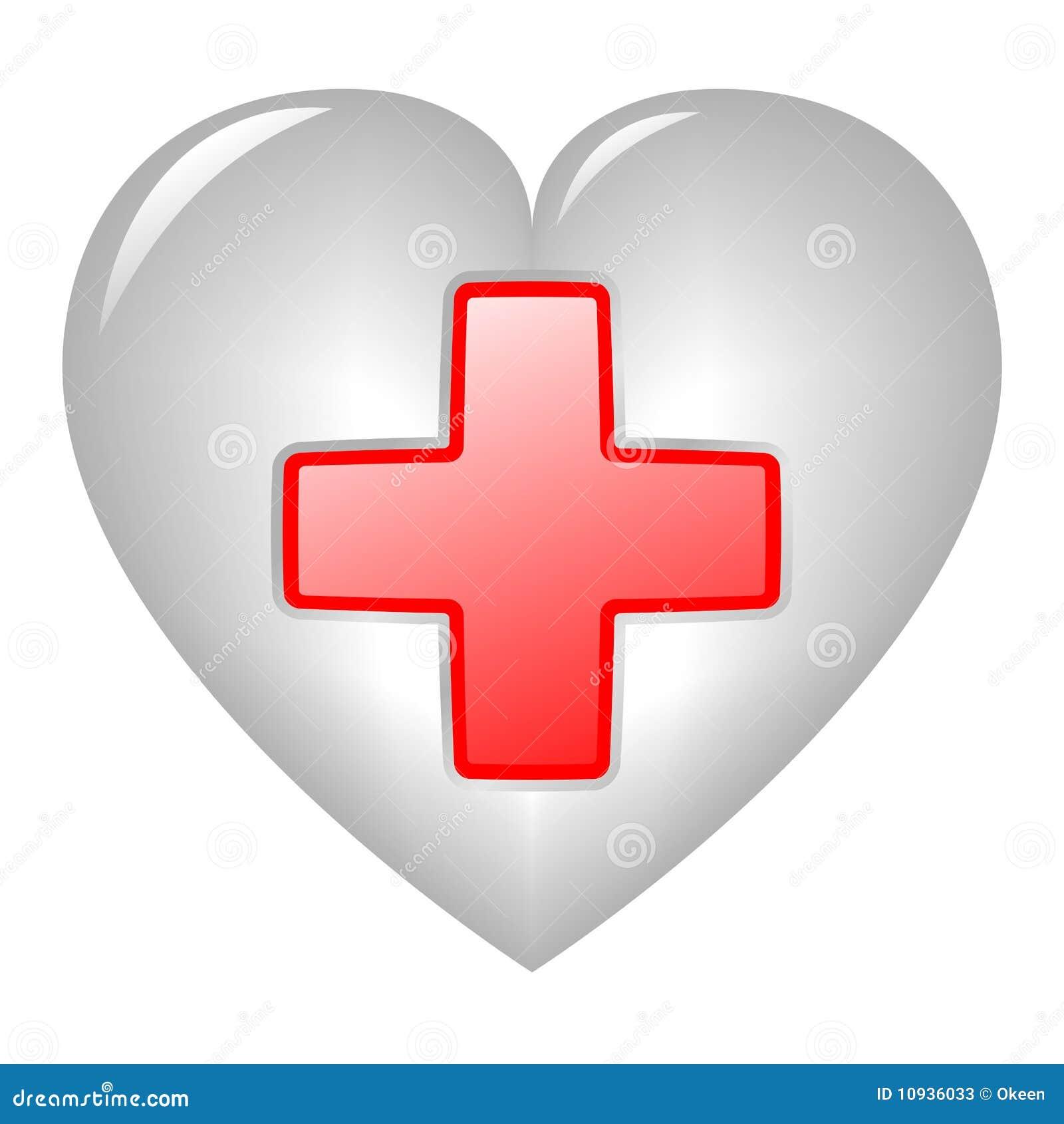 перекрестный красный цвет сердца