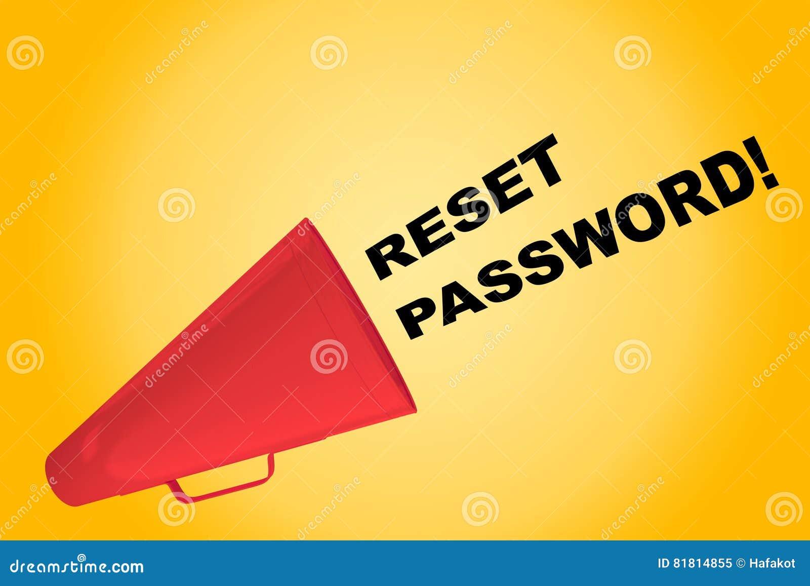 Переустановите пароль! концепция