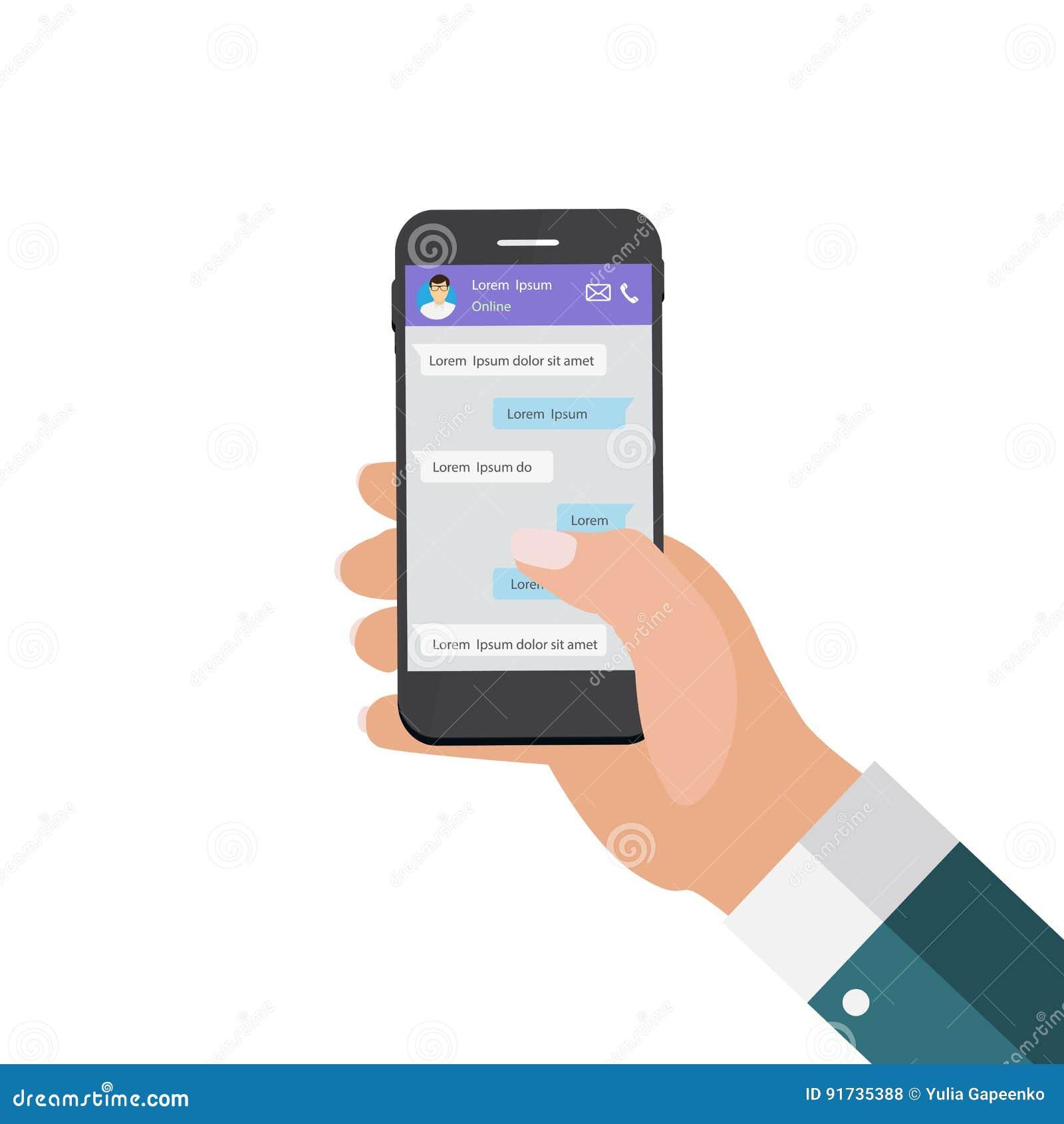 Передвижная рука концепции Apps держа телефон принципиальная схема цифрово произвела высокий social res сети изображения