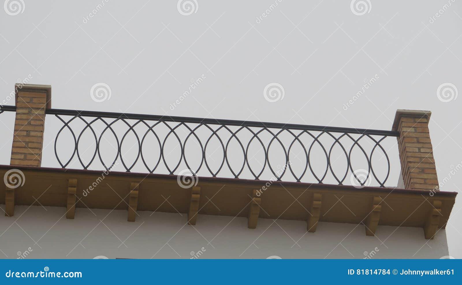 Перила террасы на крыше