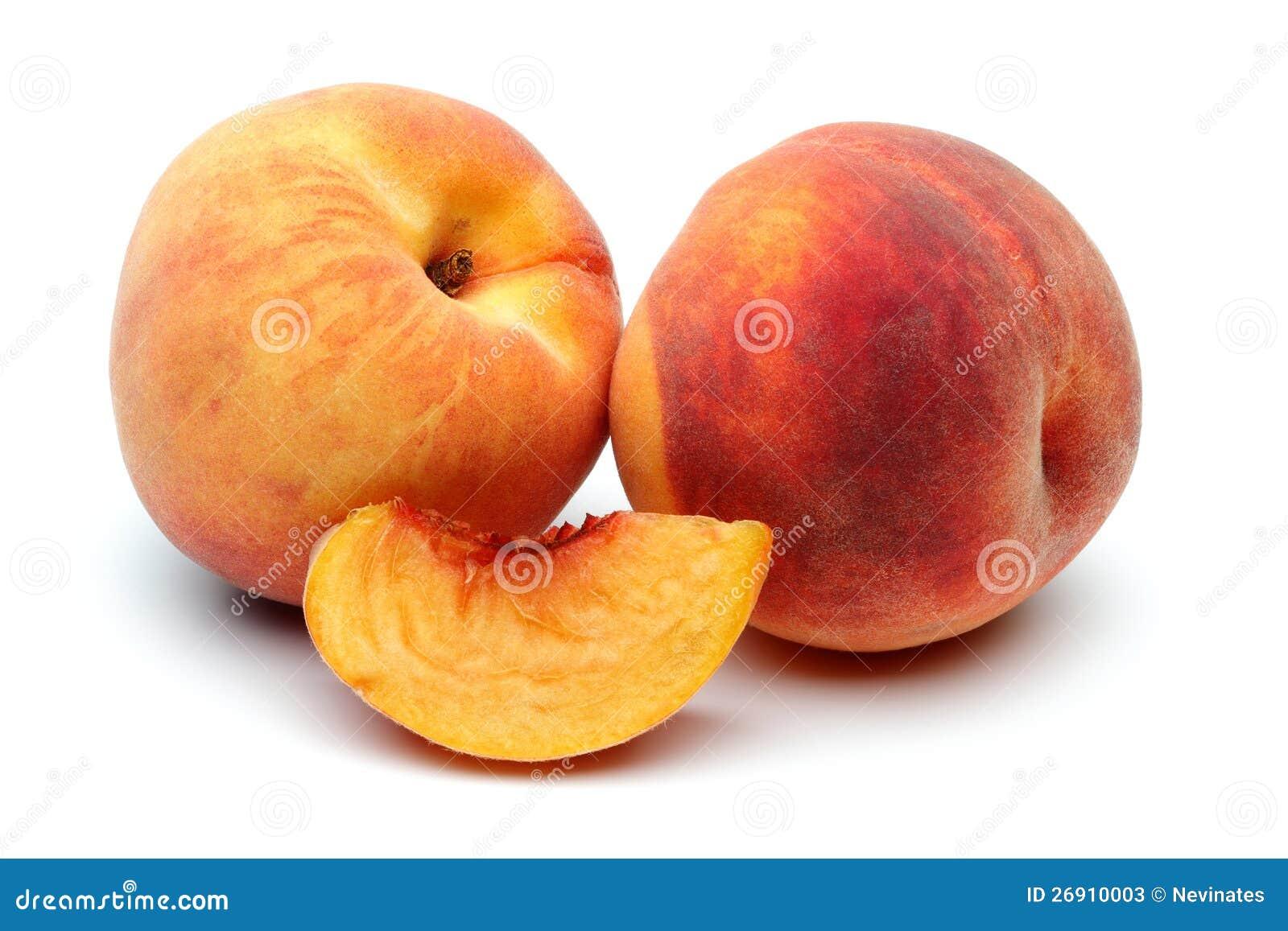 Персик 2 и отрезанный персик