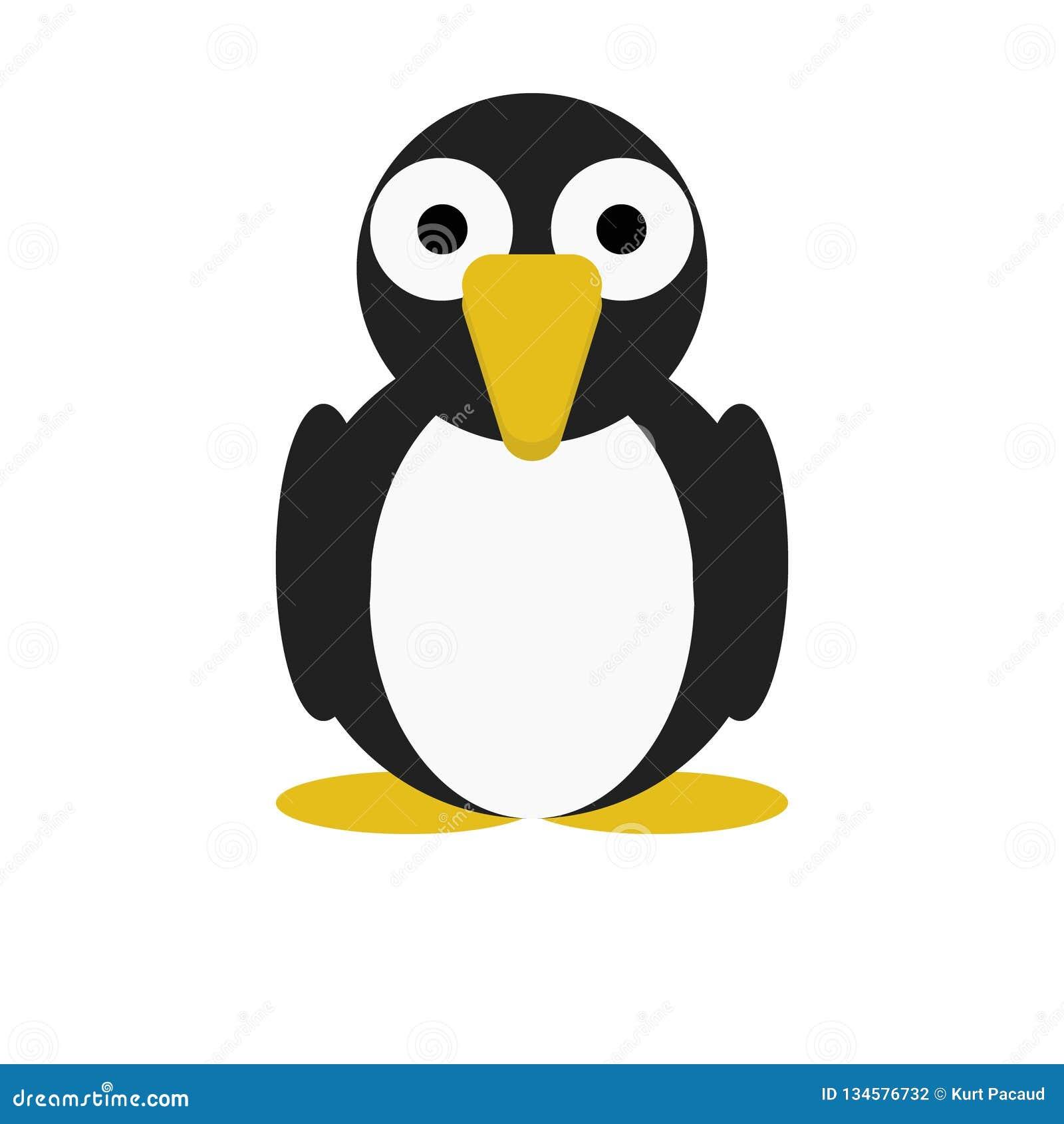Персонаж из мультфильма пингвина птицы милый животный для детей