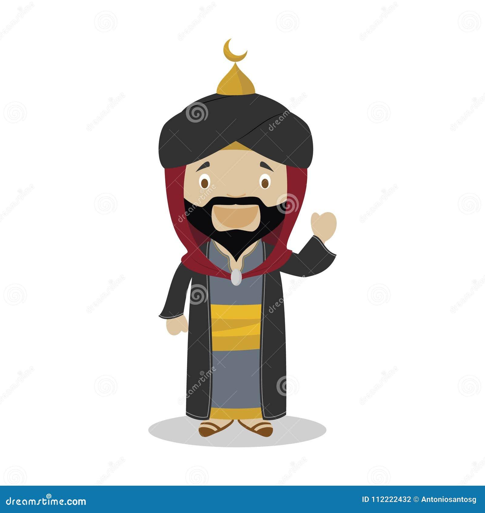 Персонаж из мультфильма Saladin также вектор иллюстрации притяжки corel