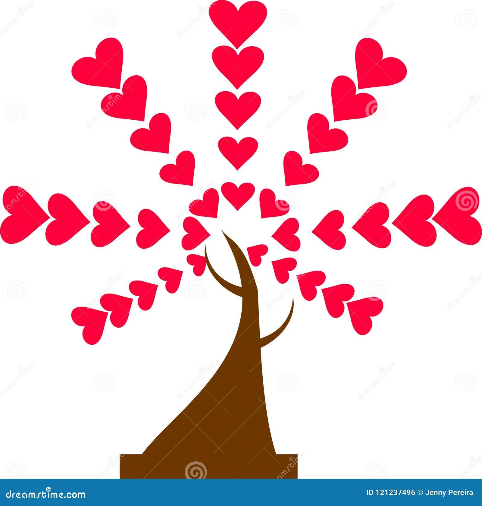 Персона дерева зеленых и красных сердец 2