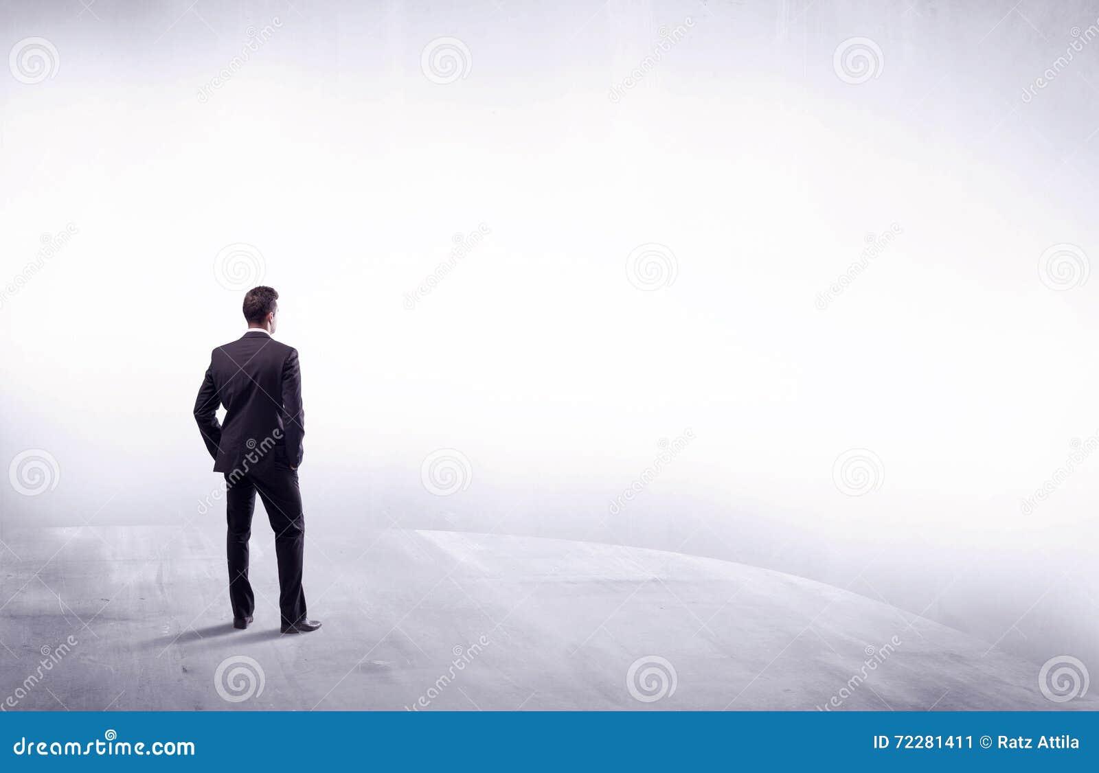 Download Персона дела стоя от вид сзади Стоковое Изображение - изображение насчитывающей пусто, чисто: 72281411