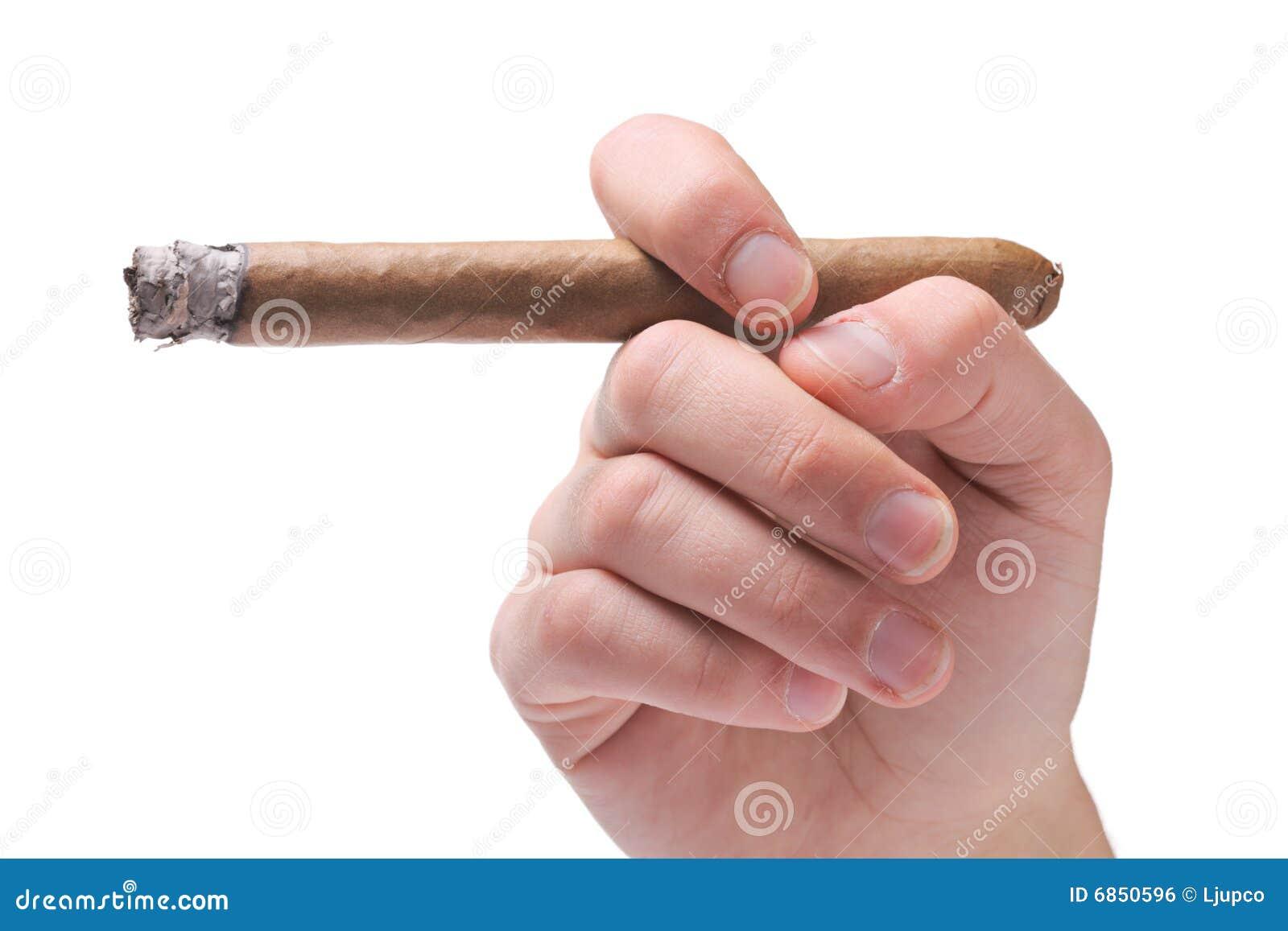 персона удерживания сигары