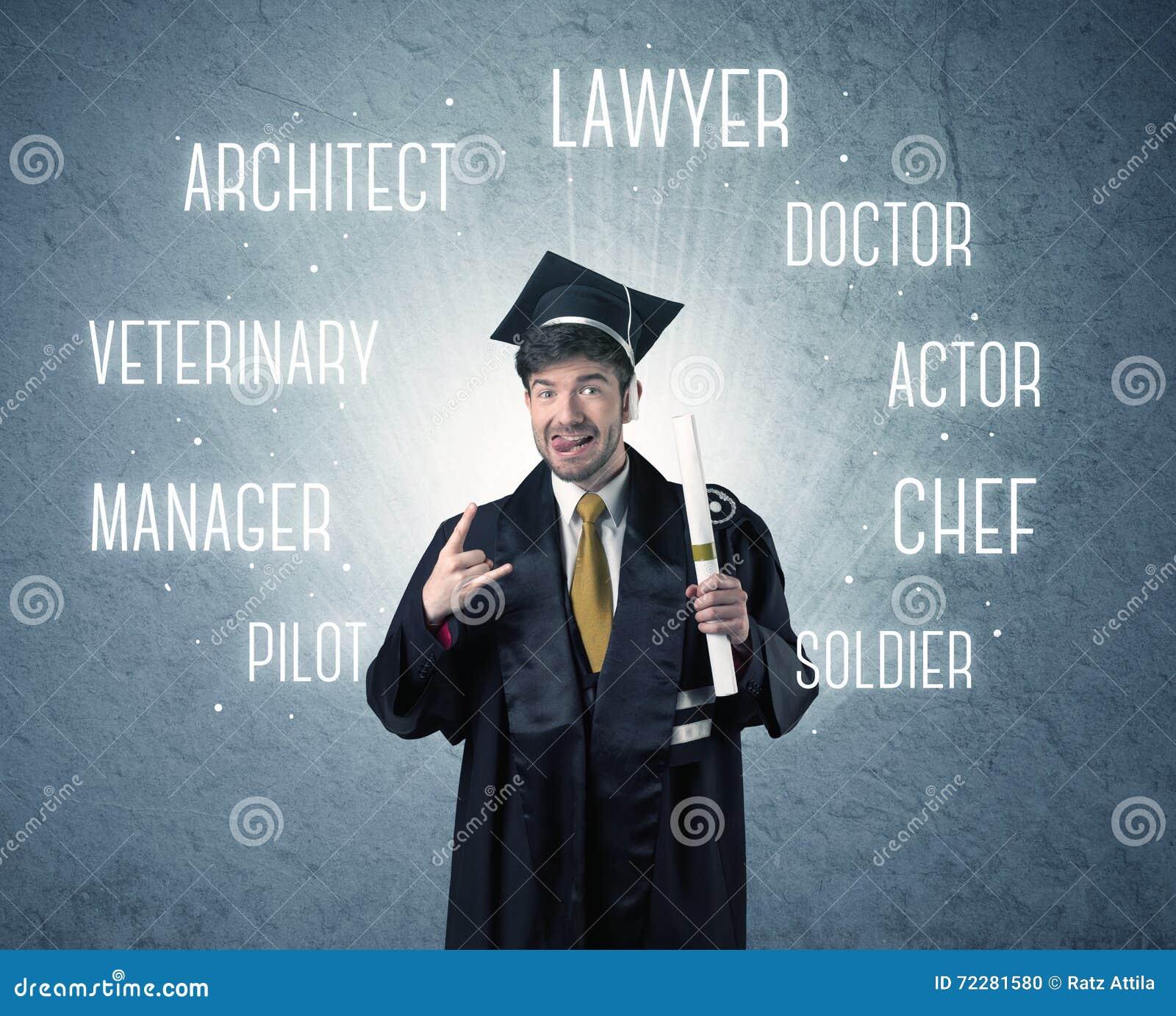 Download Персона Graduete ища профессии Стоковое Фото - изображение насчитывающей выпускник, достижения: 72281580