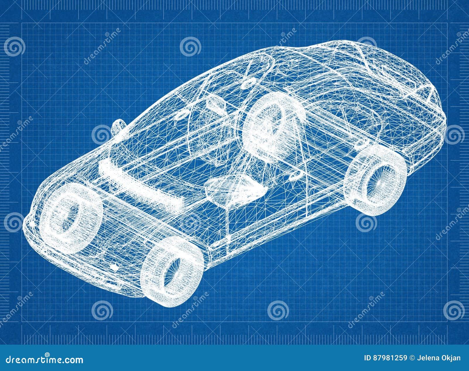 Перспектива 3D †светокопии автомобиля концепции «