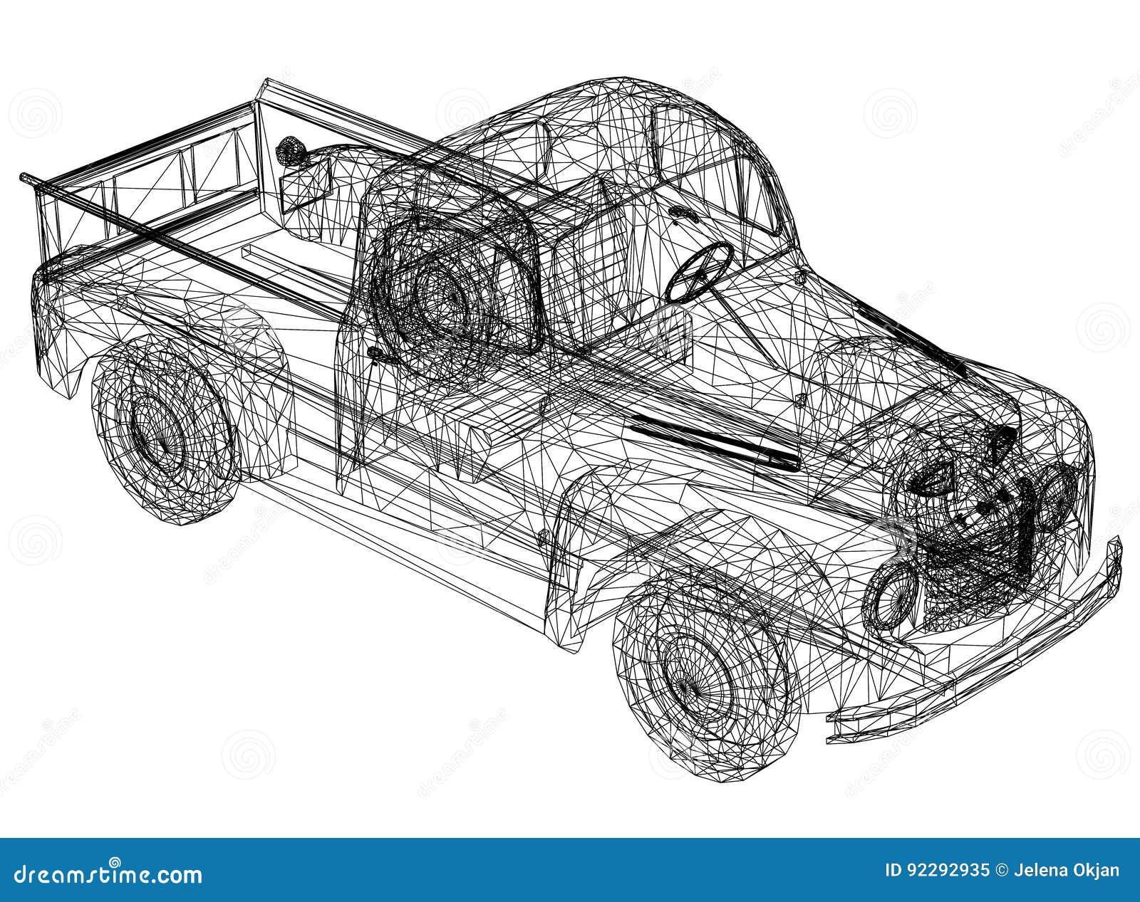 Перспектива 3D †светокопии автомобиля «
