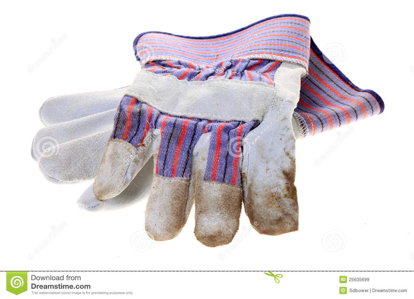 перчатки изолировали белую работу