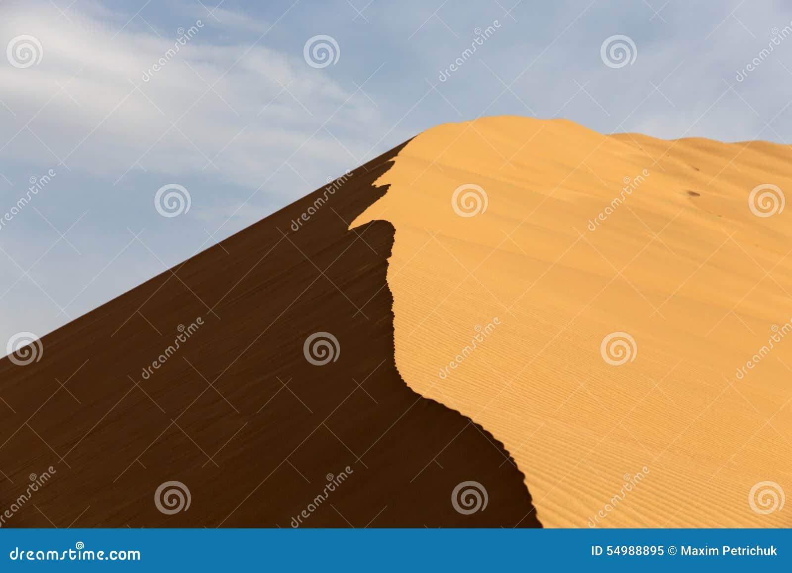 песок высокого ряда дюны динамически