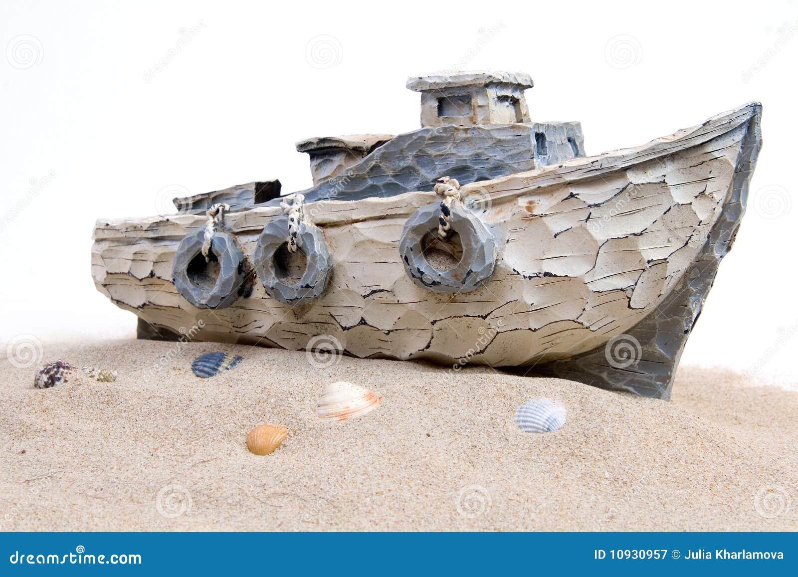 песок шлюпки
