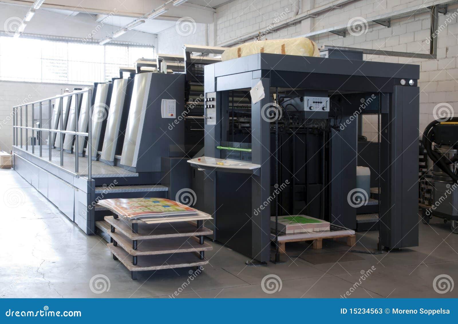 печатание давления машины смещенное