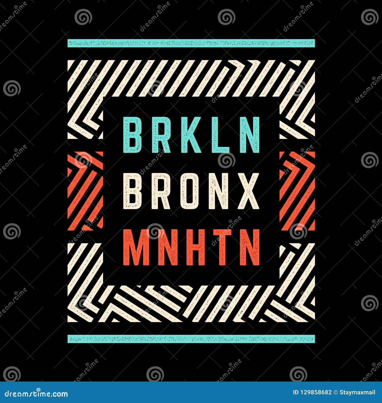Печать Бруклина ретро