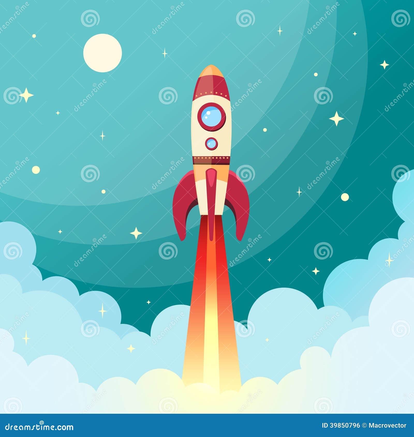 Печать ракеты космоса