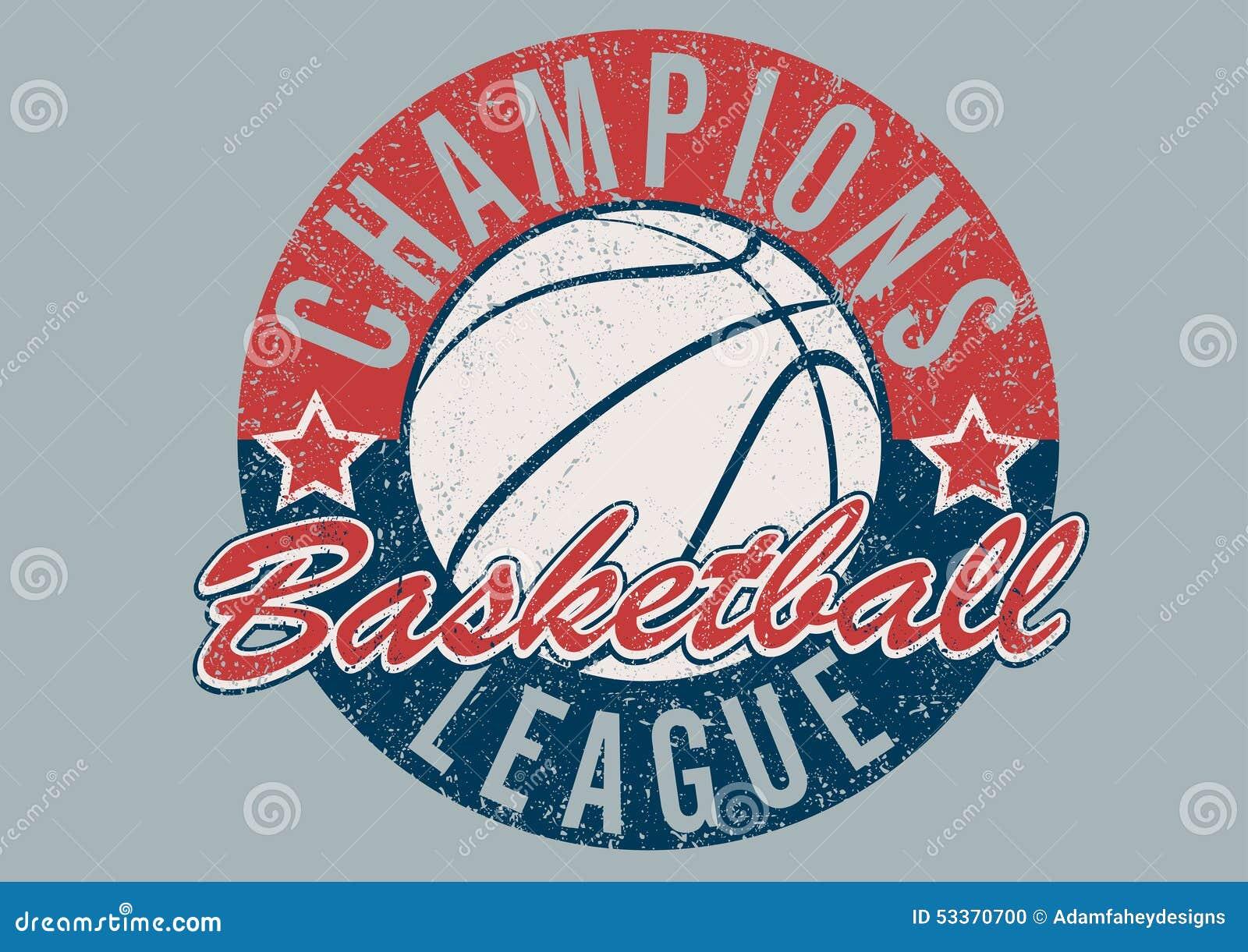 Печать чемпионов баскетбола огорченная лигой