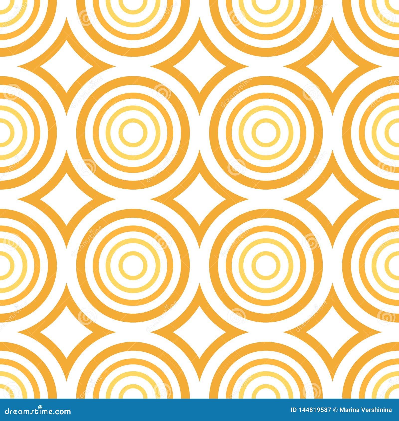 Vector seamless - orange circle pattern
