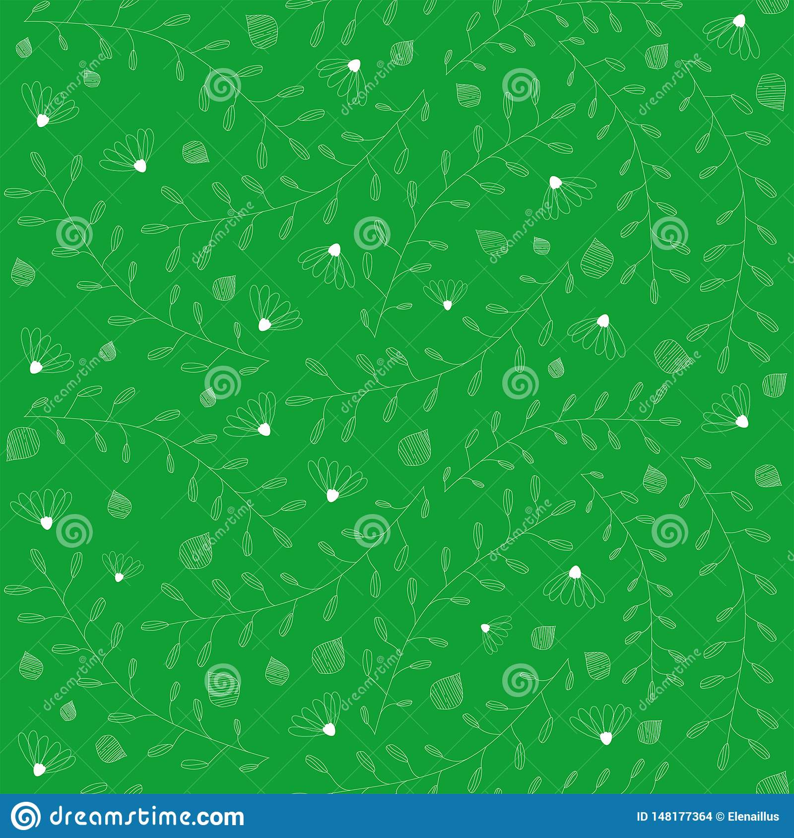 Vector seamless floral pattern . Small elements texture.