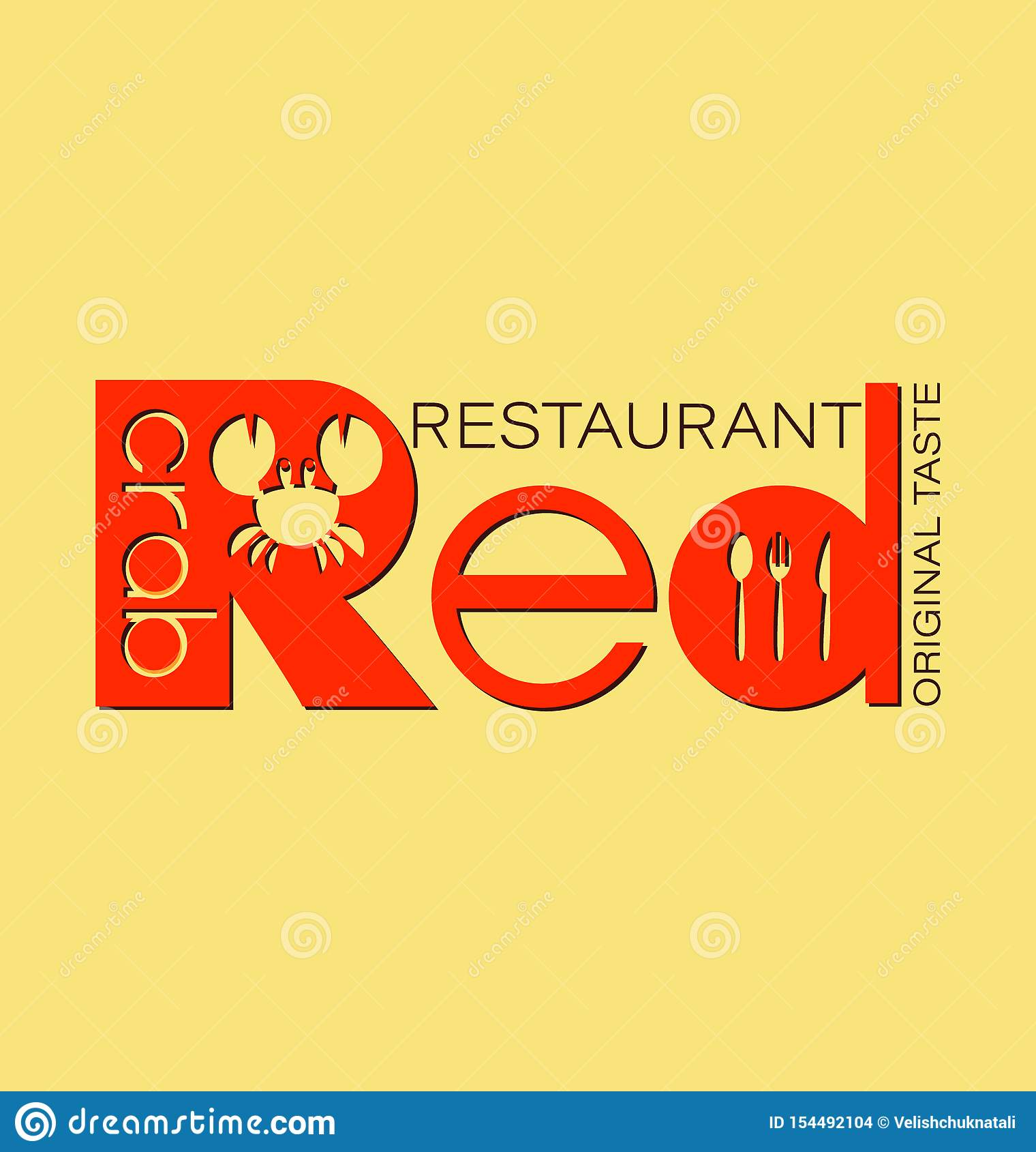 Restaurant Red Crab Seafood Restaurant Logo Stock Vector Illustration Of Cuisine Healthy 154492104