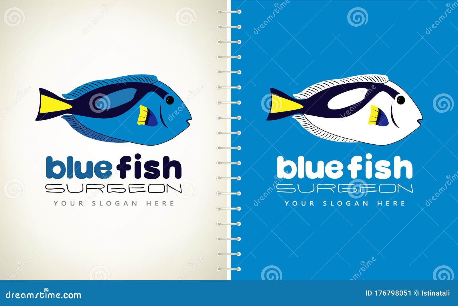 Fish Surgeon Logo Vector Design Stock Vector Illustration Of Marine Aquarium 176798051