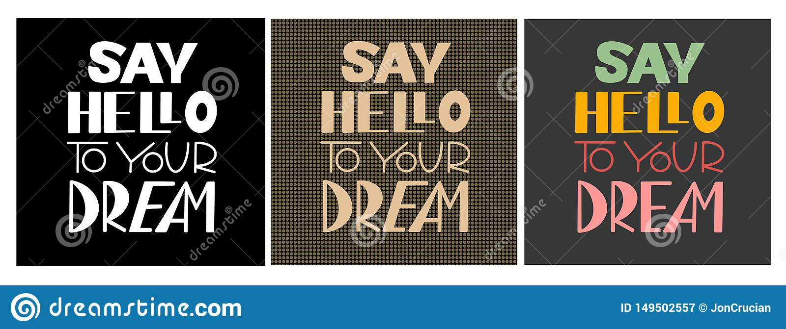 Say hello to your dream stock vector Illustration of