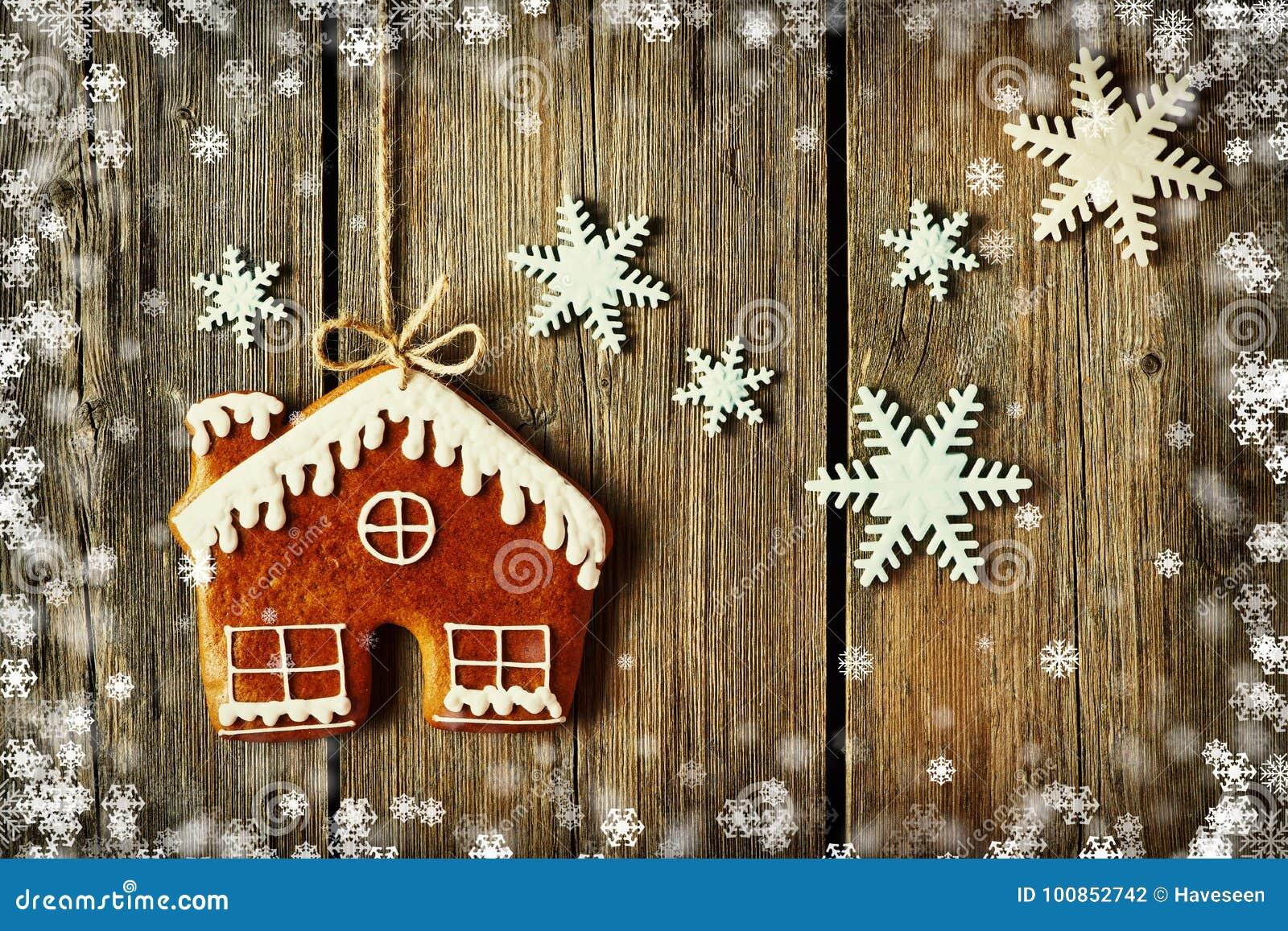 Печенье дома пряника рождества домодельное