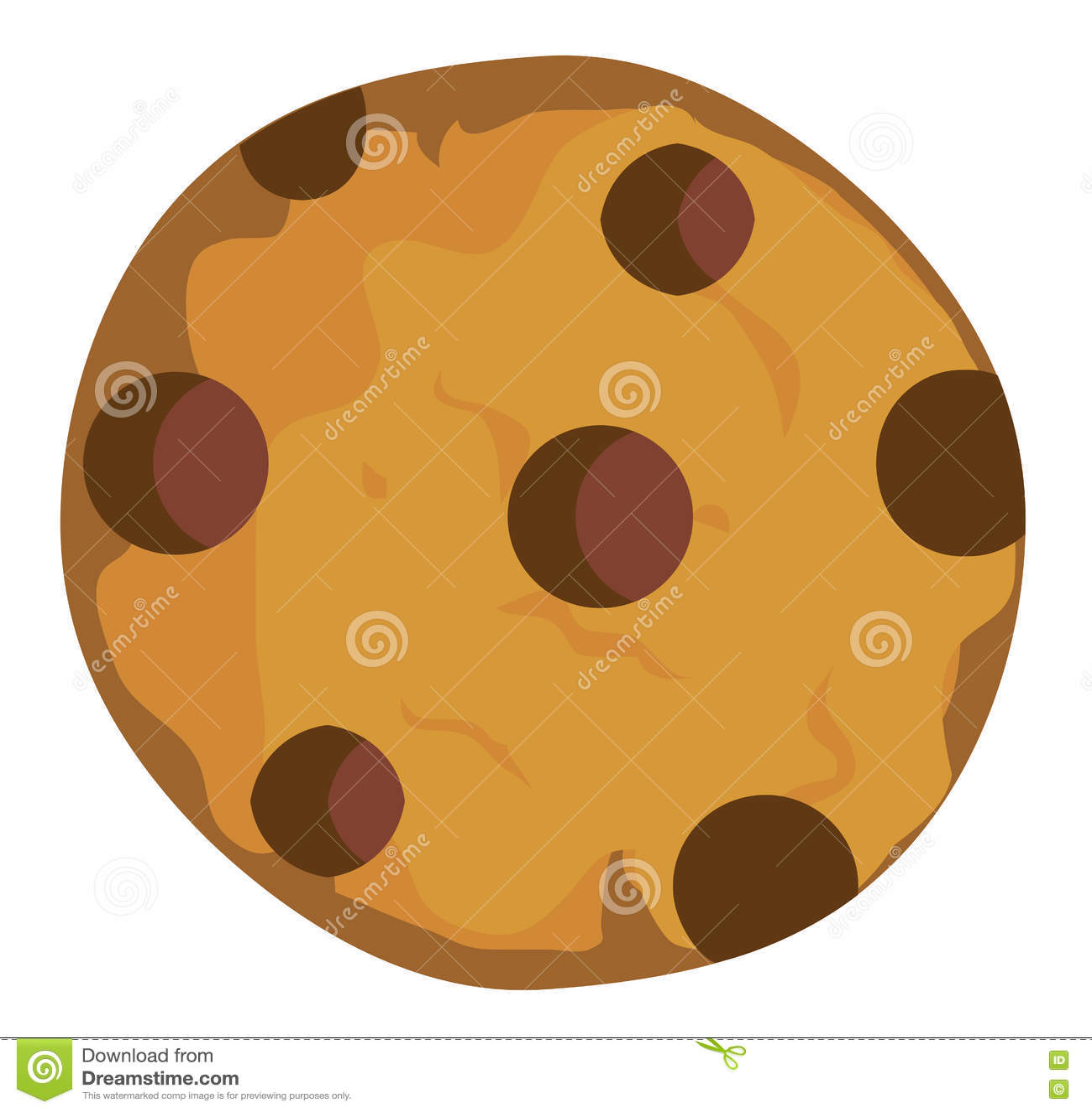 Печенье обломока шоколада вектора