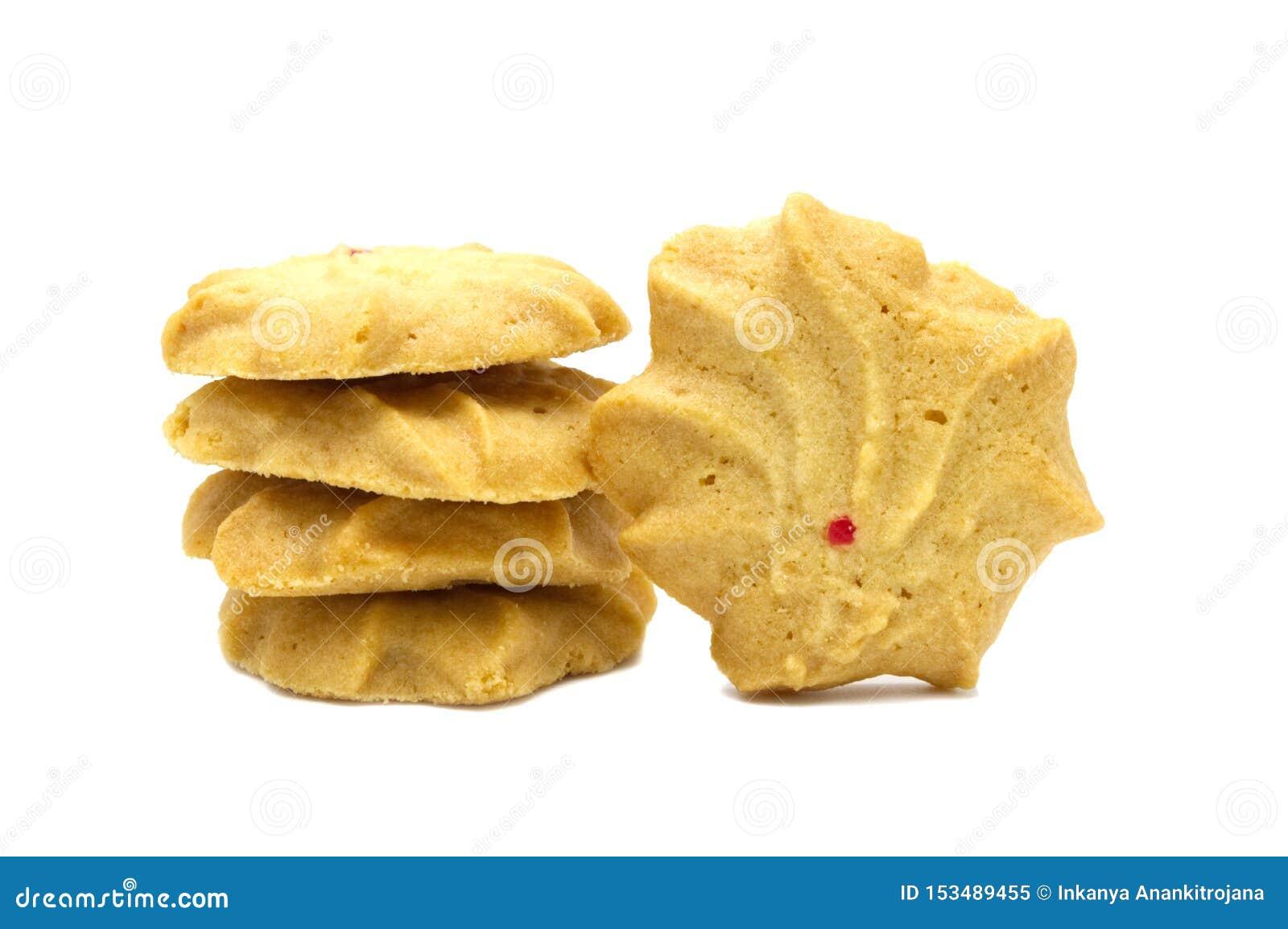 Печенье с приправленными молоком, маслом и медом Стог хрустящей очень вкусной сладкой еды и полезного печенья