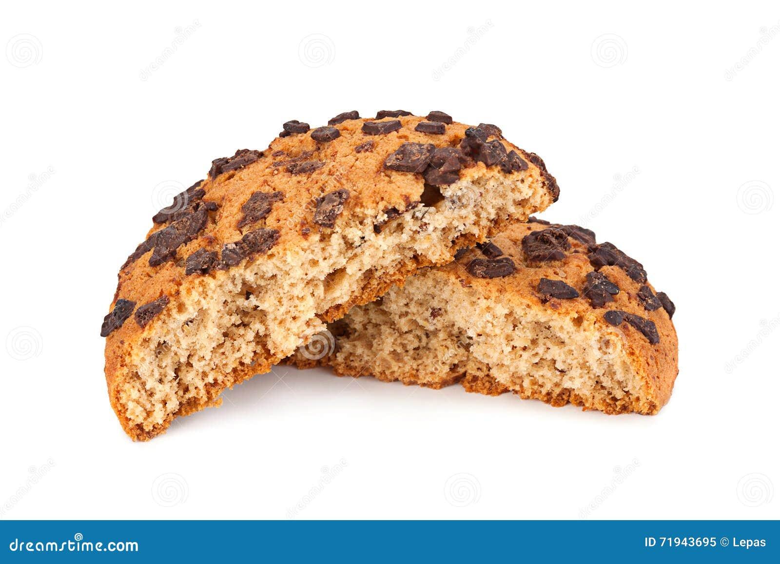 Печенья овсяной каши на белизне