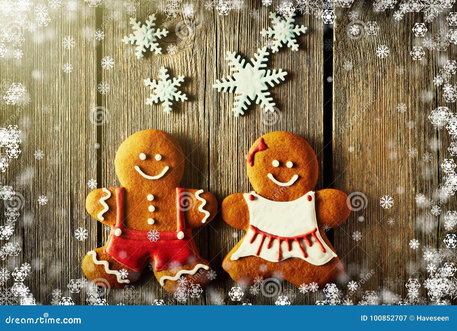 Печенья пар пряника рождества домодельные