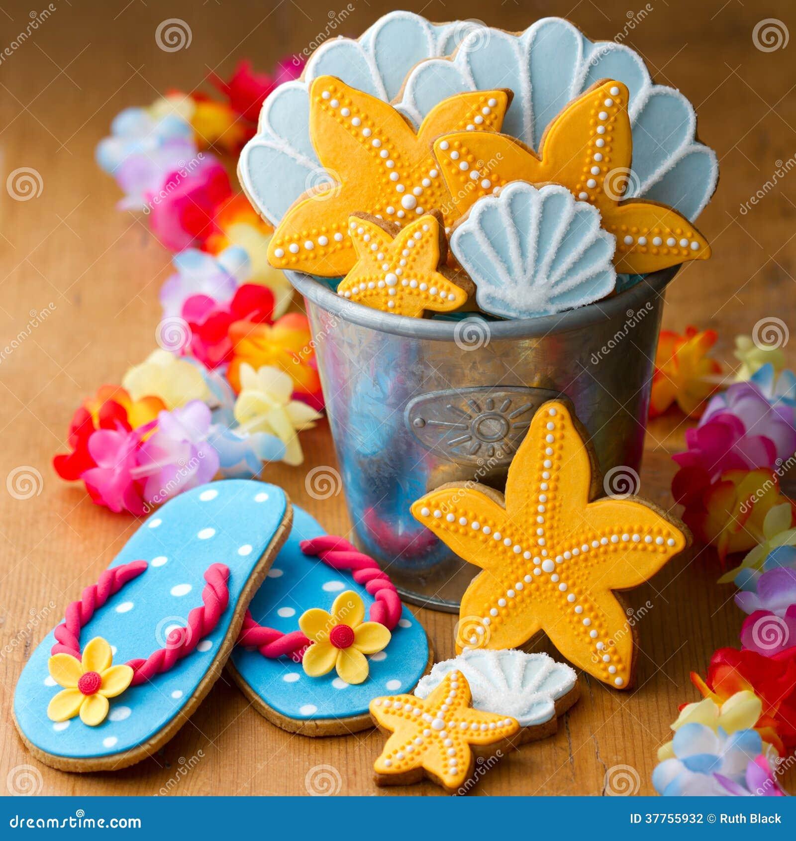 Печенья пляжа тематические